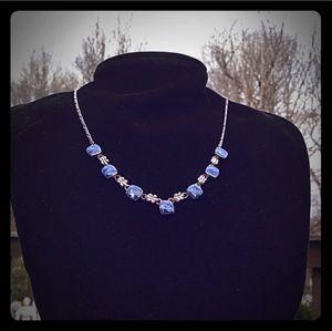 VINTAGE 950 SILVER Blue GemStone Necklaces